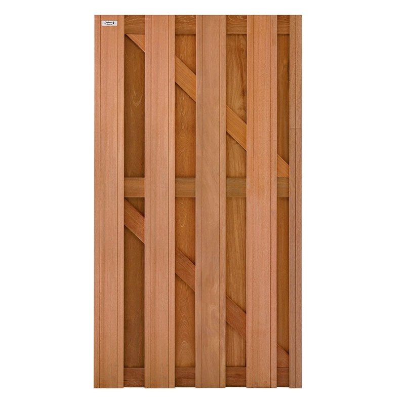 Hardhout tuindeur 90 X 180 cm. Type: Timber
