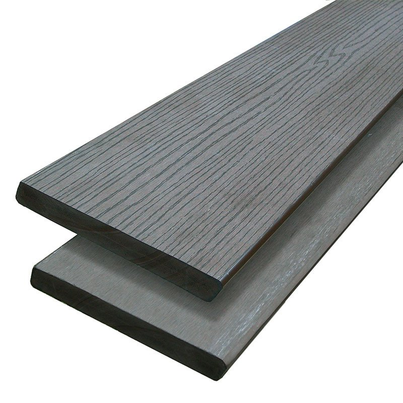 Composiet vlonderplank antraciet 25 x 190 mm. Type: Massief