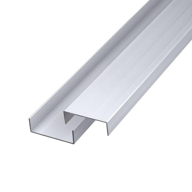 Aluminium afdeklijst 2 x 5 x 200 cm Type: Design