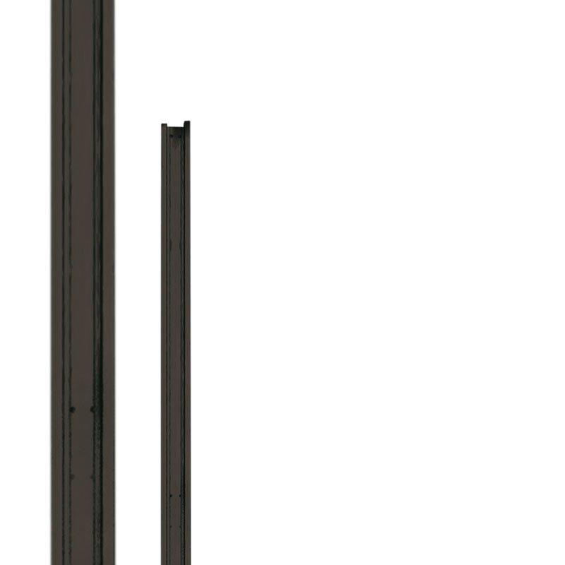 Aluminium tuin deurstopper 180 cm Type: Basic Antraciet