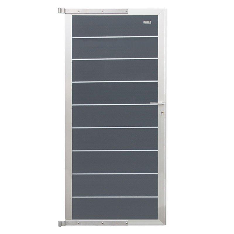Zelfbouw Composiet Deur Rock Grey 90 x 195 cm. Type: Aluminium