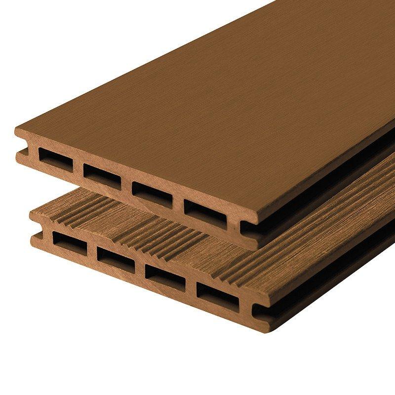 Composiet vlonderplank bruin 21 x 145 mm.