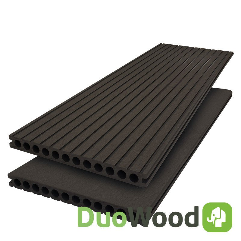 Composiet vlonderplank Duowood 25 x 250 mm. Type: Lava