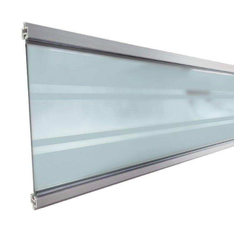 Zelfbouw Composiet Schutting Deco Lamel. Type: Hardglas transparant blank