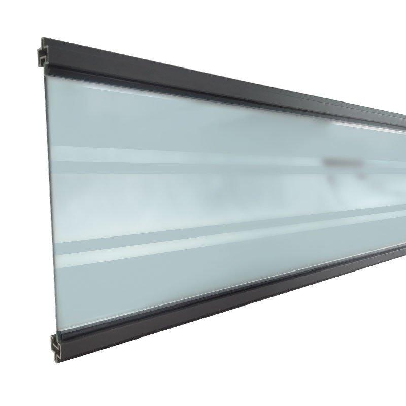 Zelfbouw Composiet Schutting Deco Lamel. Type: Hardglas transparant antraciet