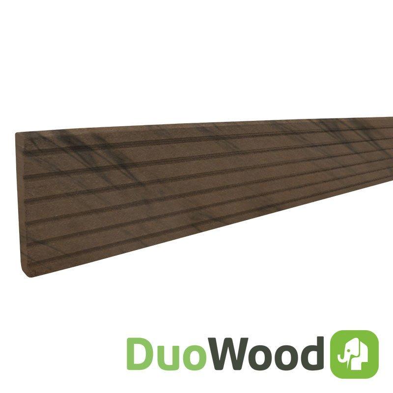 Duowood afdekprofiel 11 x 71 x 2200 mm. Type: Douala Bicolor