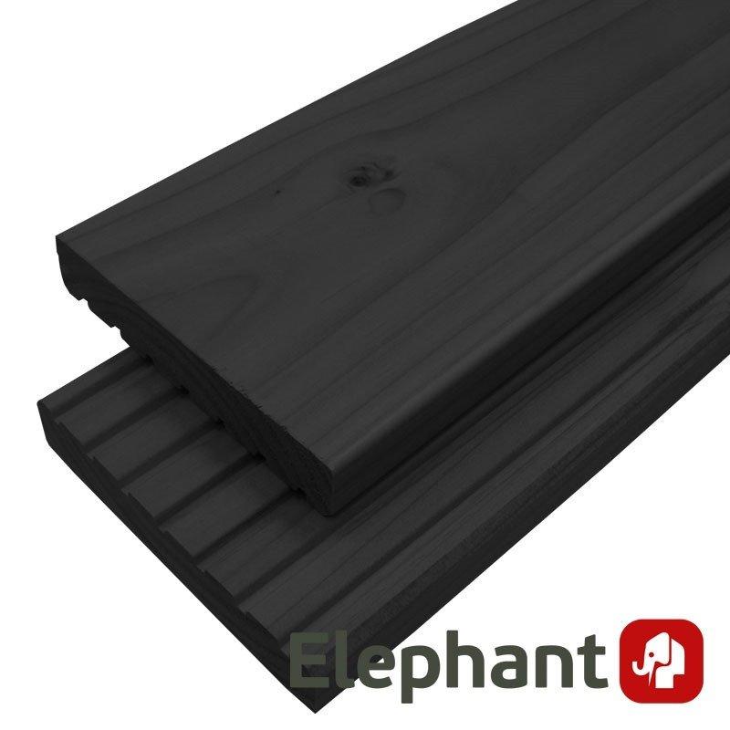 zwarte vlonderplank hout