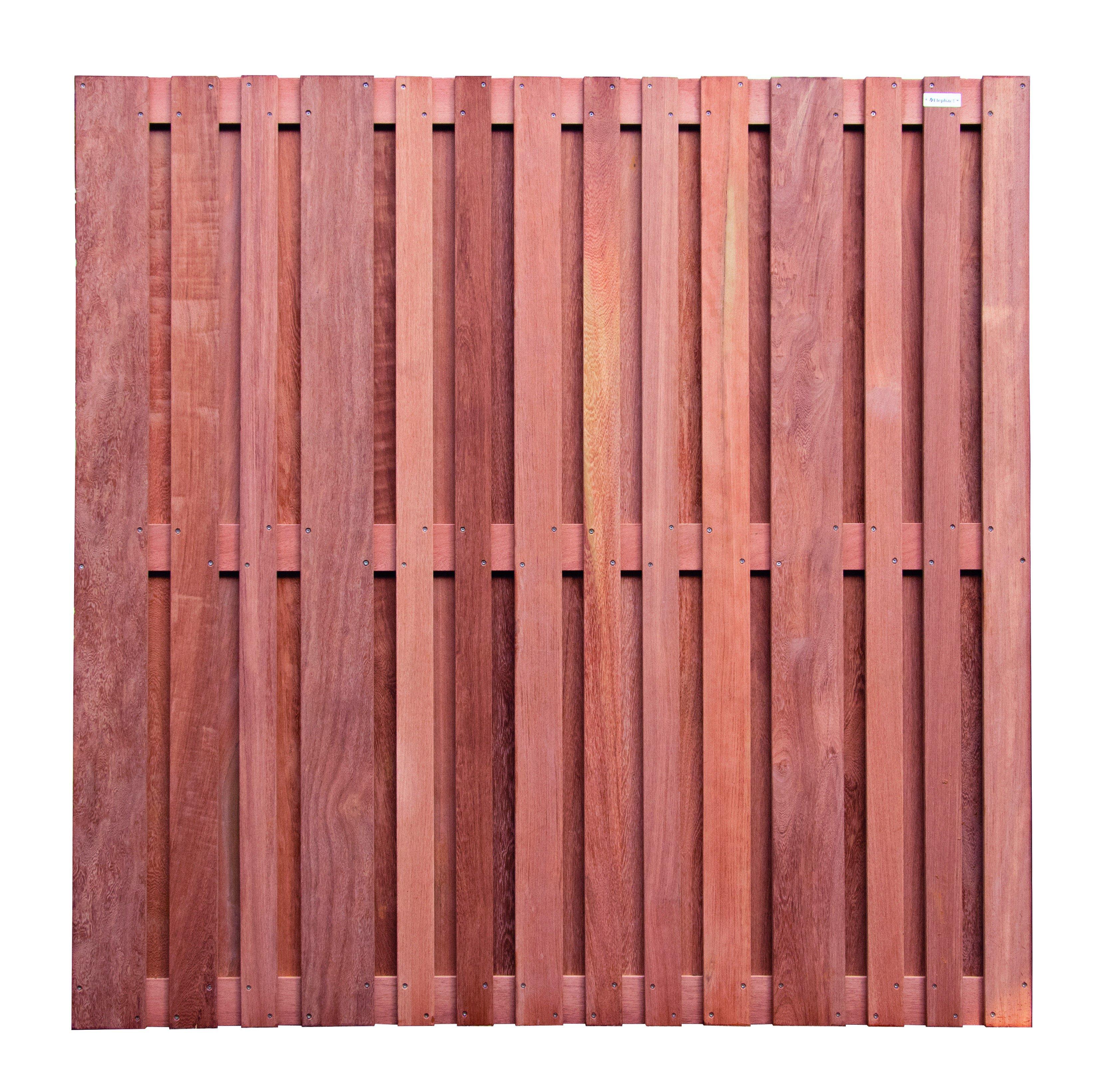 Hardhouten schutting Cedrinho 180 x 180 cm. Type: Stripes