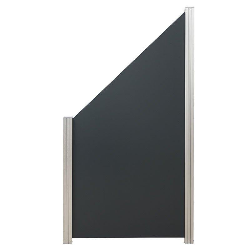 Aluminium composiet schutting 90 x 180/97 cm. Type: Donkergrijs