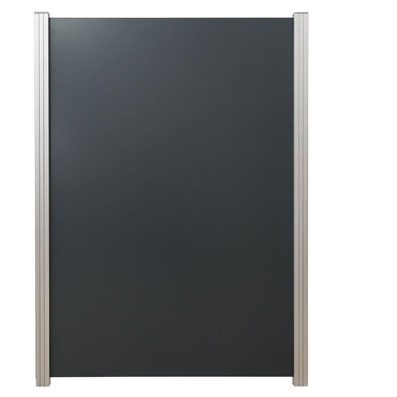 Aluminium composiet schutting 122 x 180 cm. Type: Donkergijs