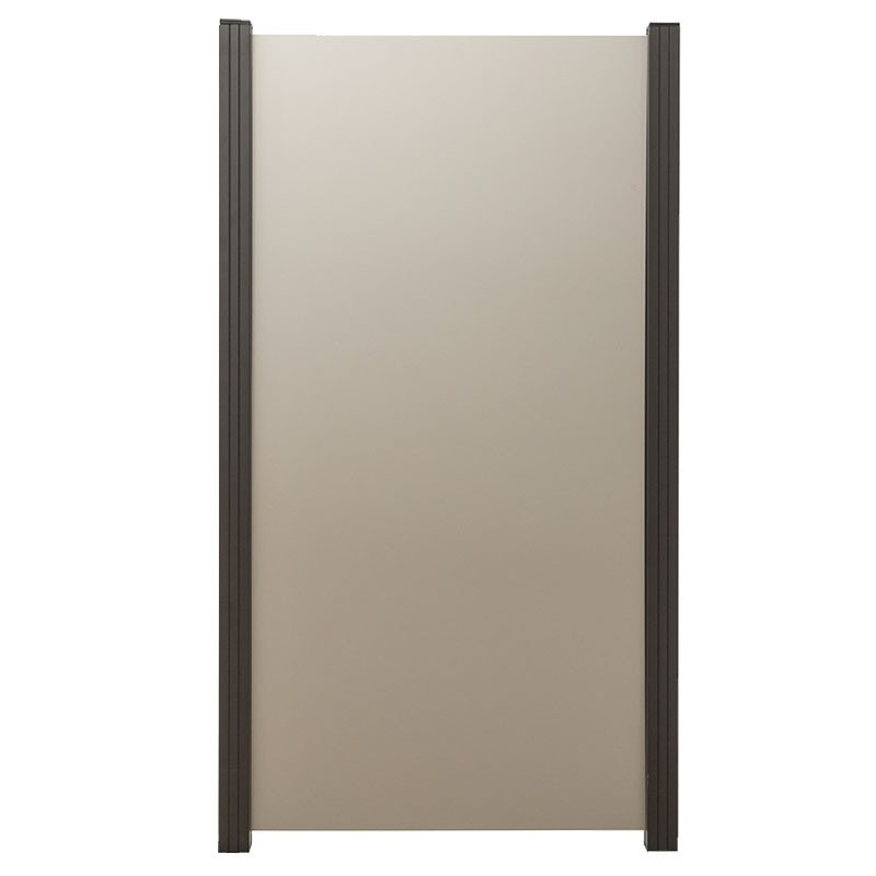 Aluminium composiet 122 x 180 cm. Type: Zilvergrijs