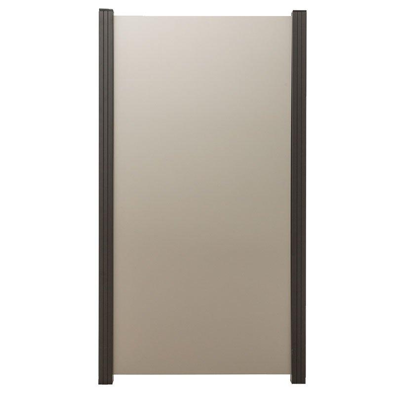 Aluminium composiet 90 x 180 cm. Type: Zilvergrijs