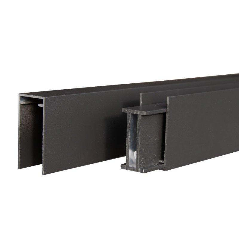 Mix & Match Vertical 2.0 x 2.5 x 180 cm. Type: Aluminium antraciet boven-, en onderregel (3st)