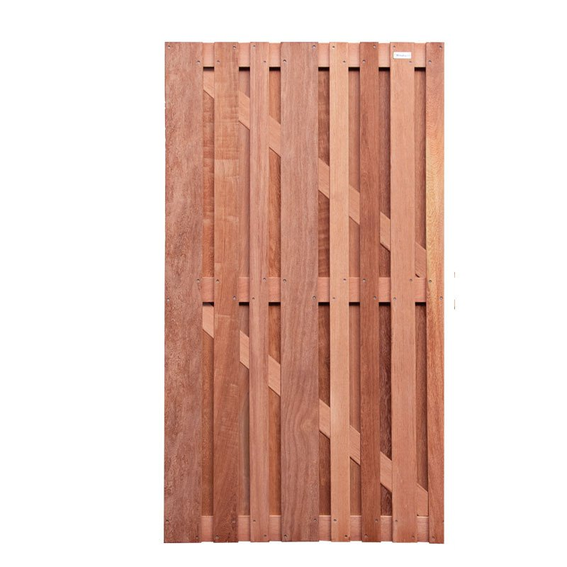 Hardhouten tuindeur Cedrinho 90 x 180 cm. Type: Stripes