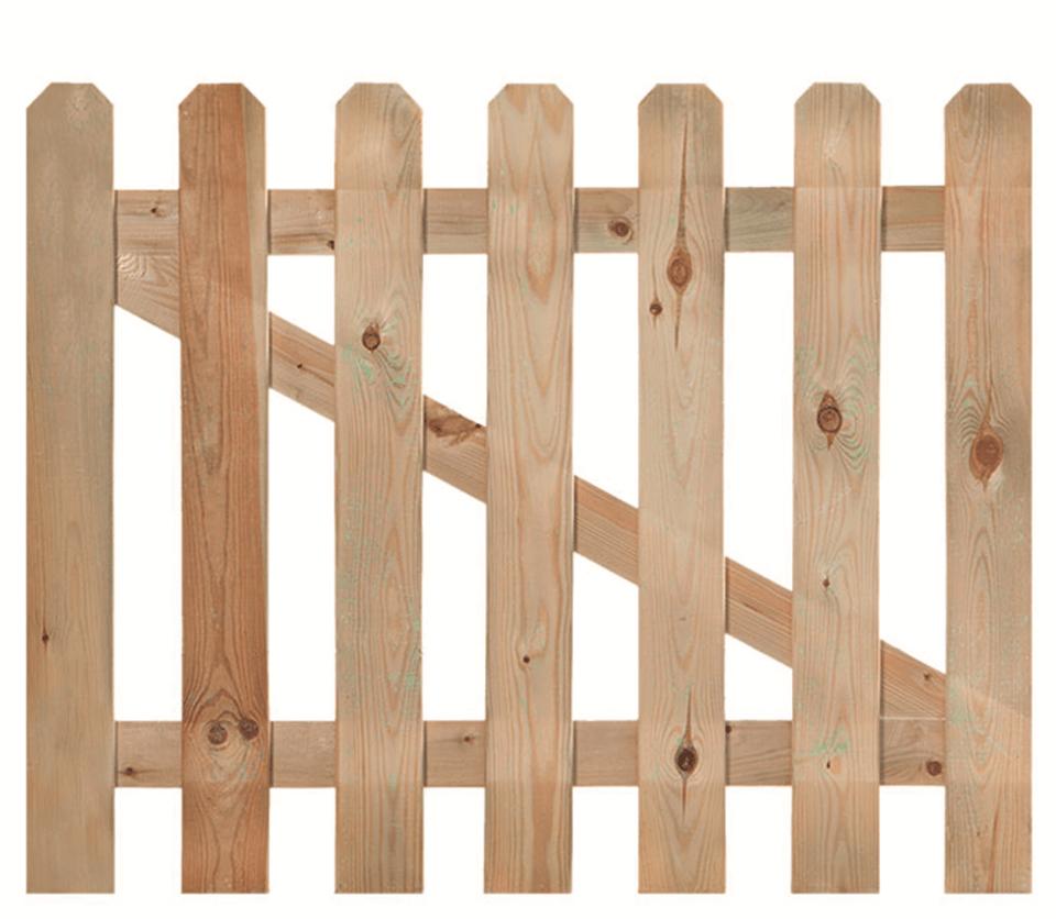 Tuinhekdeur grenen 100 cm x diverse hoogtes. Type: recht