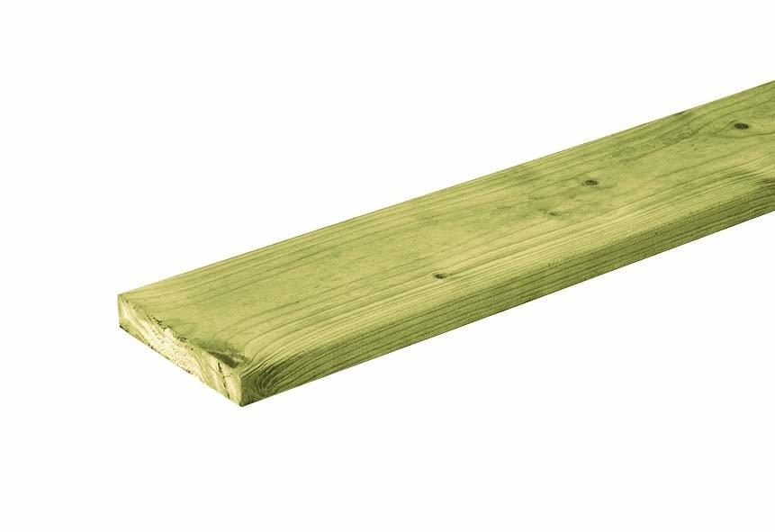 Houten plank Noord Europees 18 x 95 mm. Type: Vuren