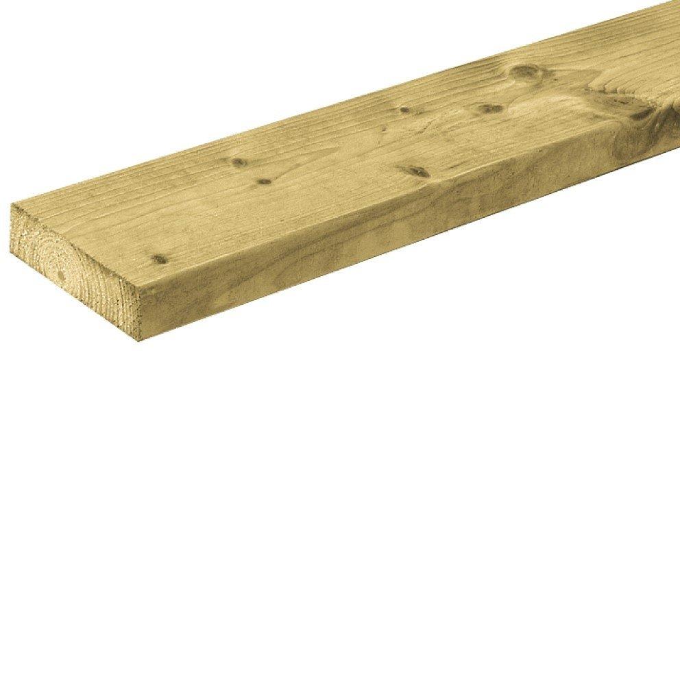 Houten plank geïmpregneerd 28 x 95 mm. Type: Vuren