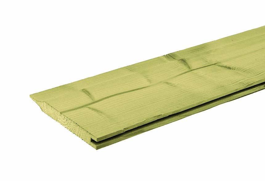 Houten plank dubbel rabat geïmpregneerd 18 x 142 mm. Type: Vuren