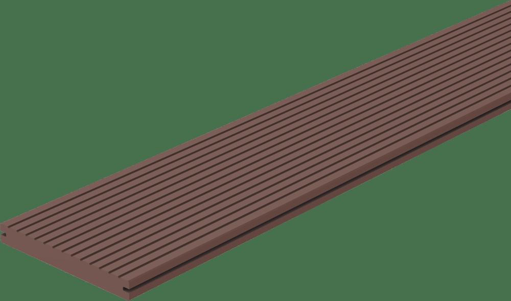 Composiet vlonderplank Donker Bruin 23 x 140 mm. Type: Massief