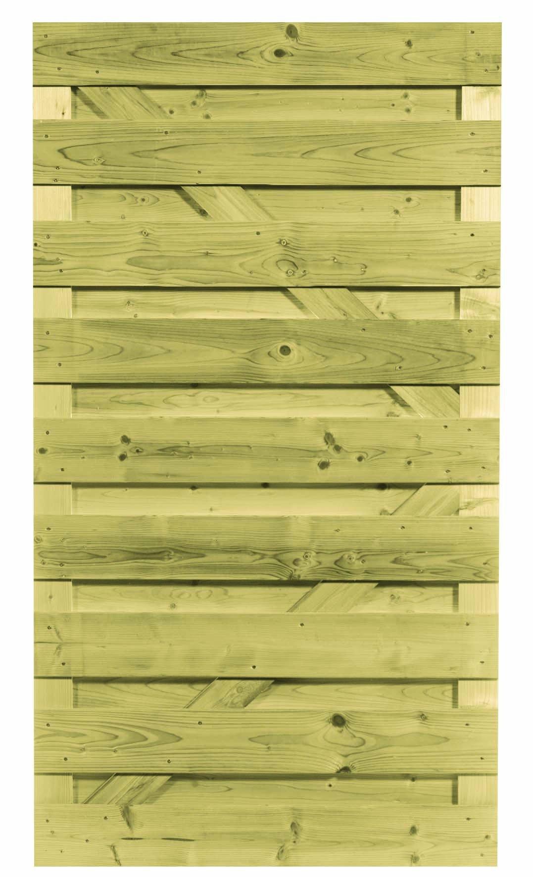 Houten deur geïmpregneerd 100 x 180 cm. Type: recht horizontaal