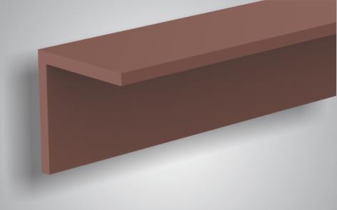 Hoekprofiel composiet 4x4x300 cm Bruin
