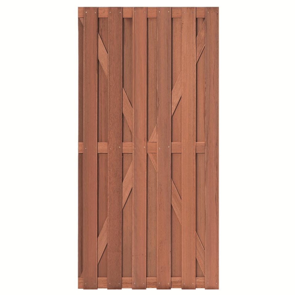 Hardhouten tuindeur 100 x 180 cm. Type: Leeuwarden