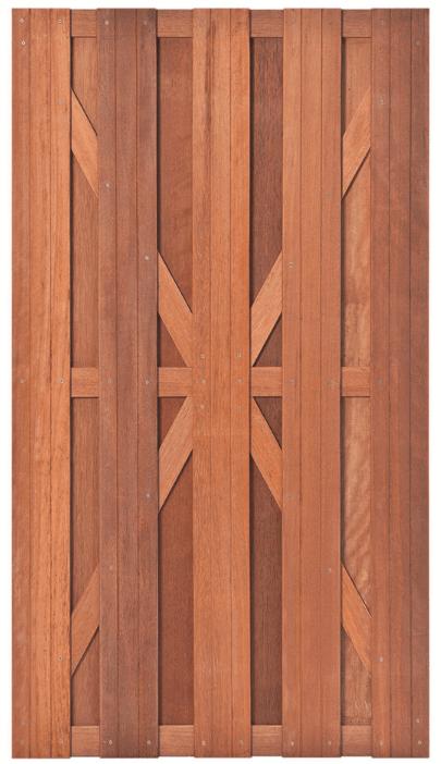 Hardhouten tuindeur 100 x 180 cm. Type: Kampen