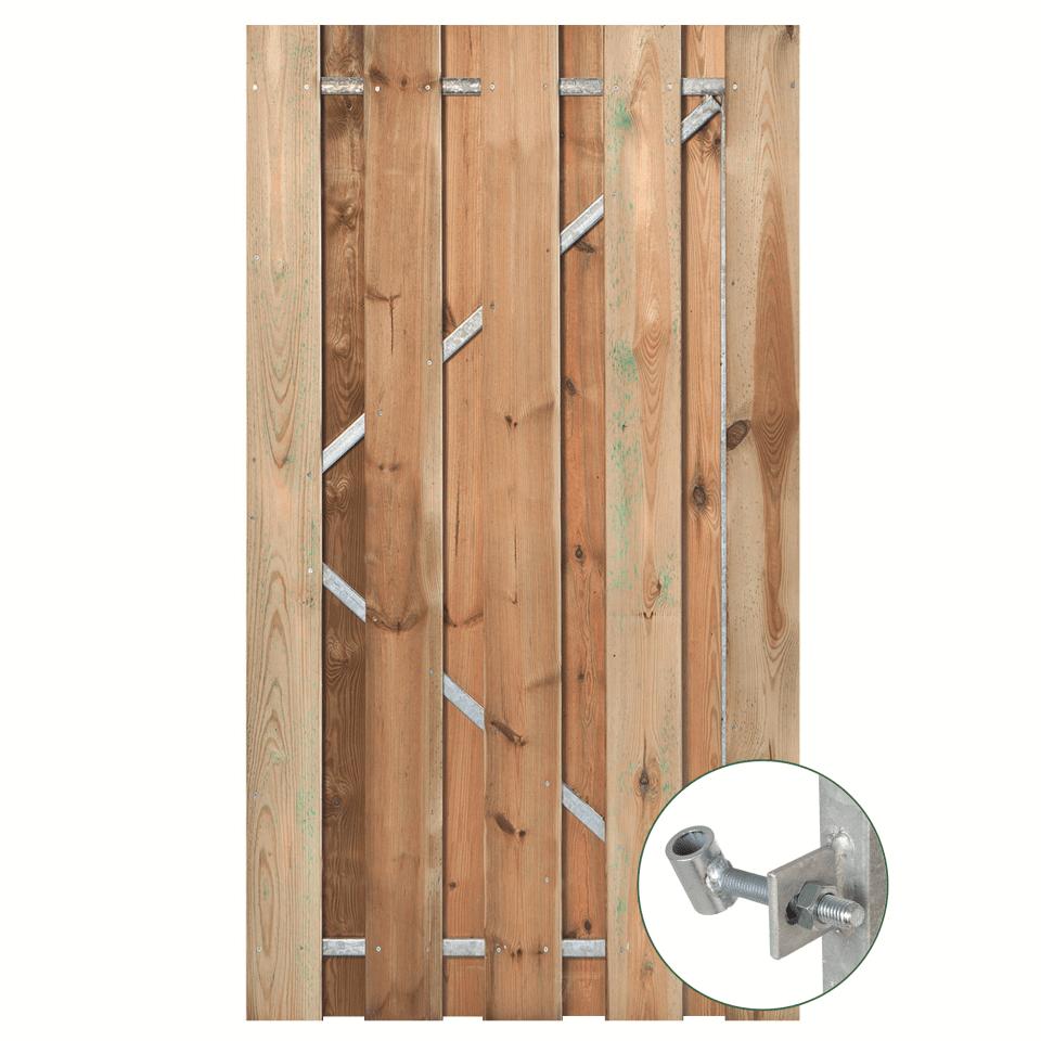 Geïmpregneerd grenen 195 cm Solide deur met frame: Diverse breedtes