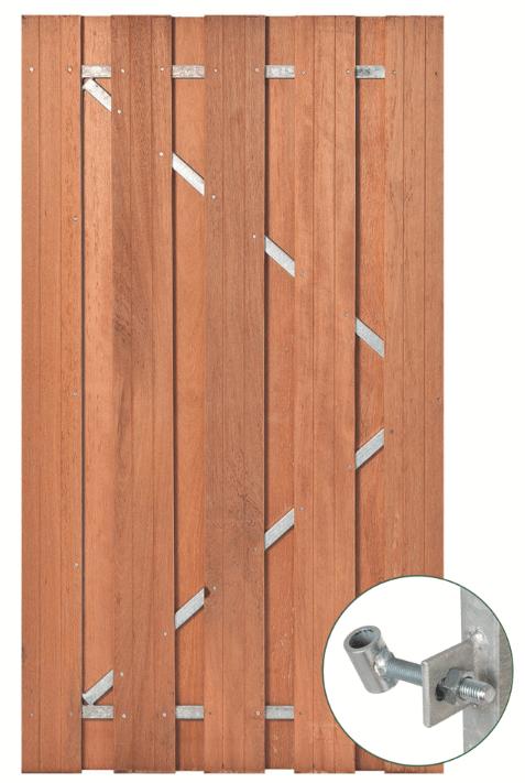 Hardhouten tuindeur 180 x 100 cm. Type: Solide