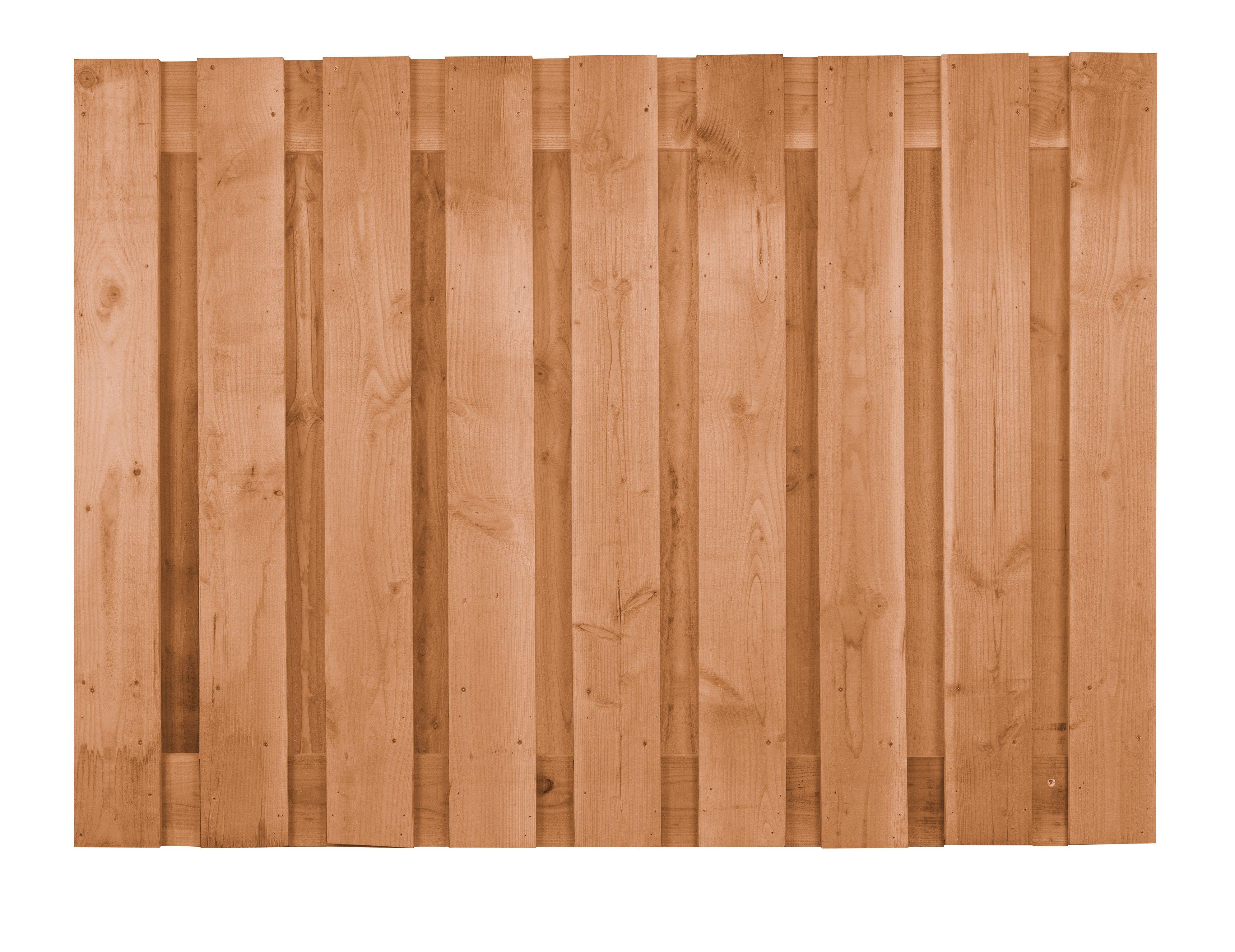 Houten Schutting Douglas lariks 130 x 180 cm. Type: Betonbouw ongeschaafd