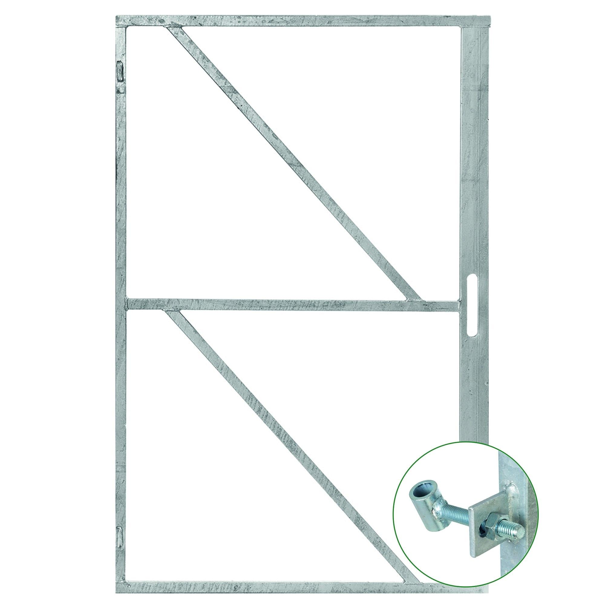 Stalen Frame voor deur met slotgat. Type: zelfbouw diverse hoogtes