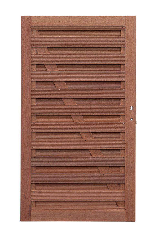 Hardhouten deur recht 180 x 100 cm. Type: Elegant 14