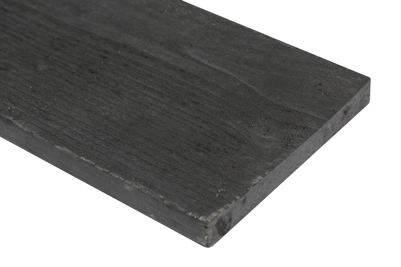 Zwarte Houten plank 22 x 200 x 4200 mm. Type: Vuren