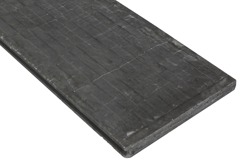 Onderplaat Beton Antraciet Leisteenmotief. Type: Betonbouw
