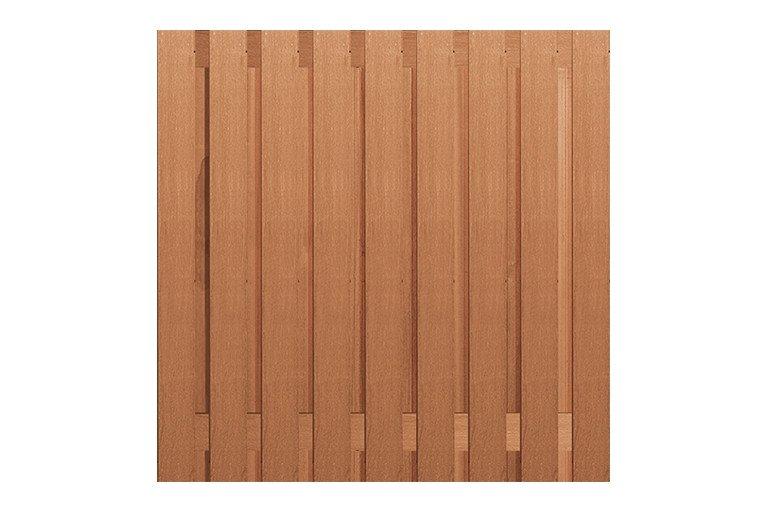 Hardhouten Schutting 180 x 180 cm. Type: Betonbouw geschaafd