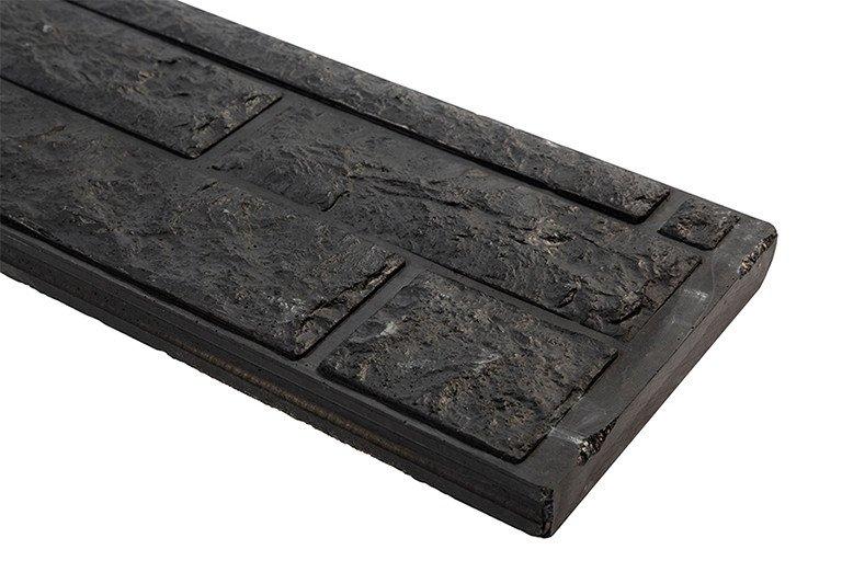 Onderplaat Beton Antraciet Houtmotief smal. Type: Ongecoat