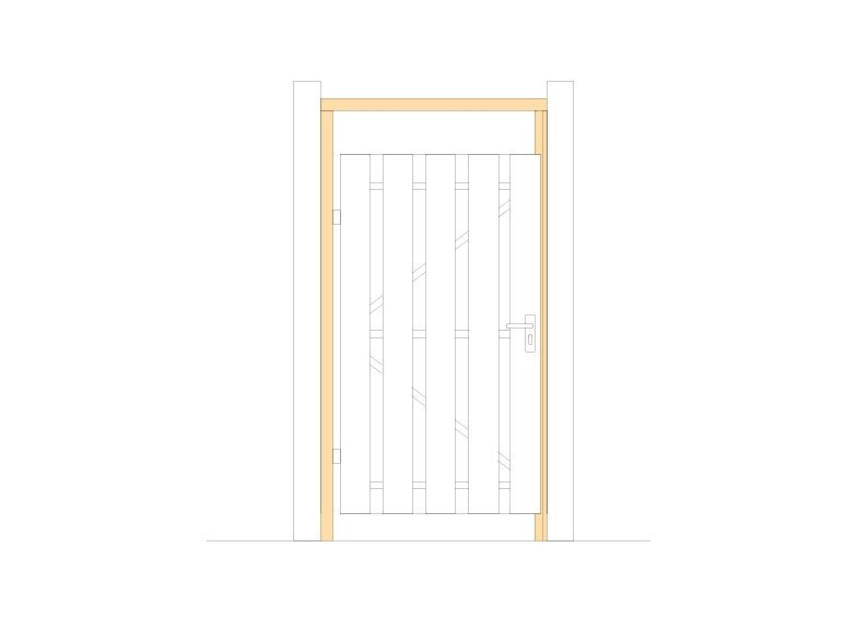 Houten deurkozijn set Type: Vuren