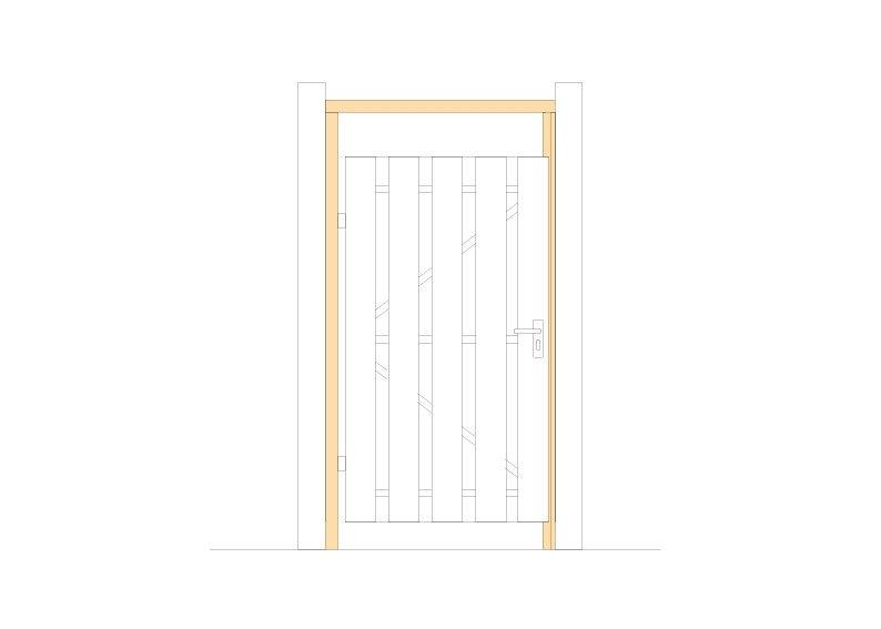 Houten deurkozijn set Type: Douglas Larix