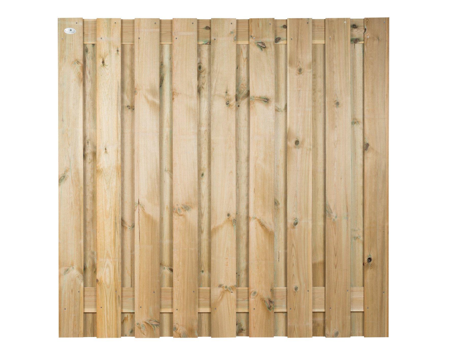 Houten schutting Grenen 180 x 180 cm Type: Betonbouw 19grenen betonbouw