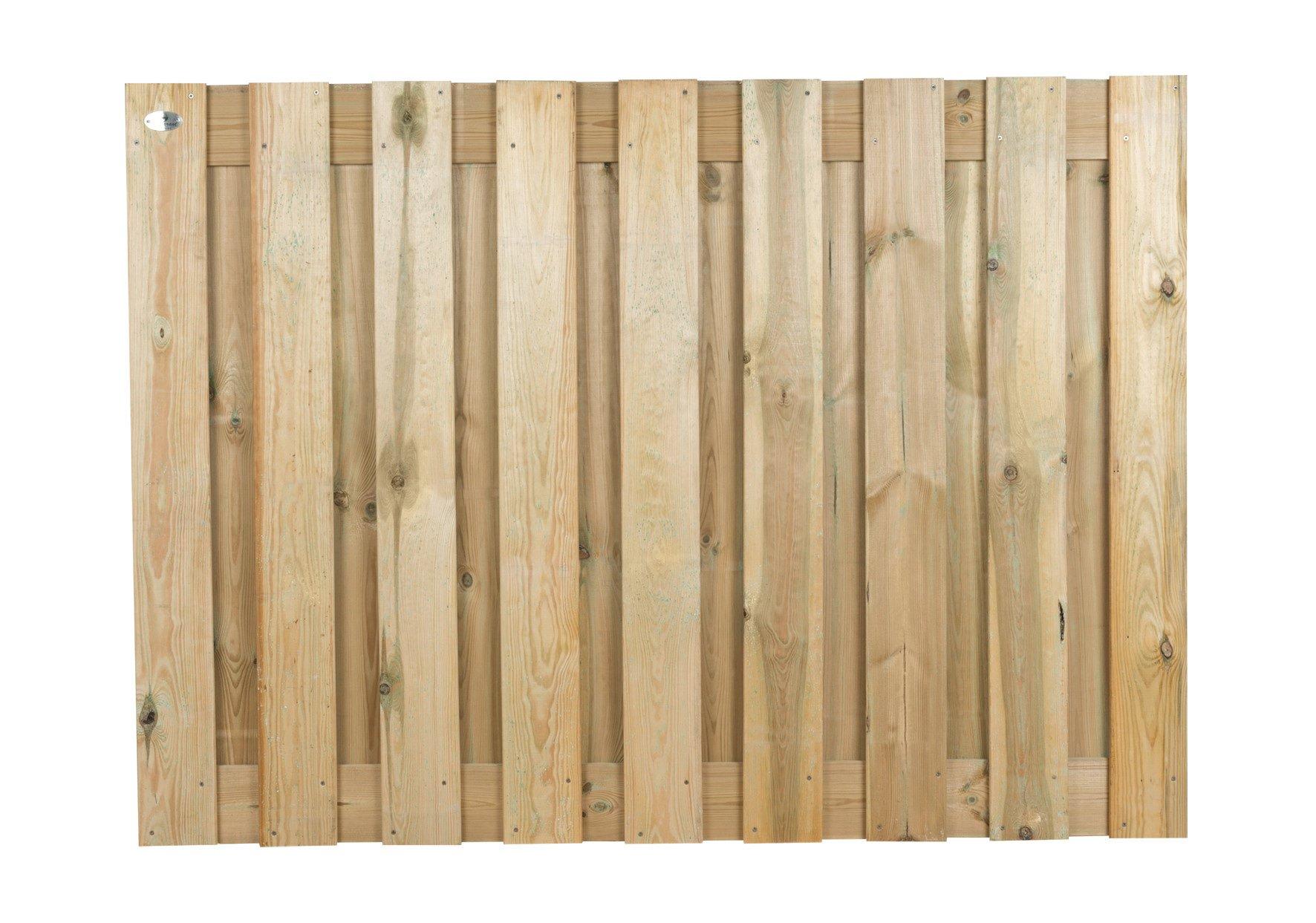 Houten schutting Grenen 130 x 180 cm Type: Betonbouw