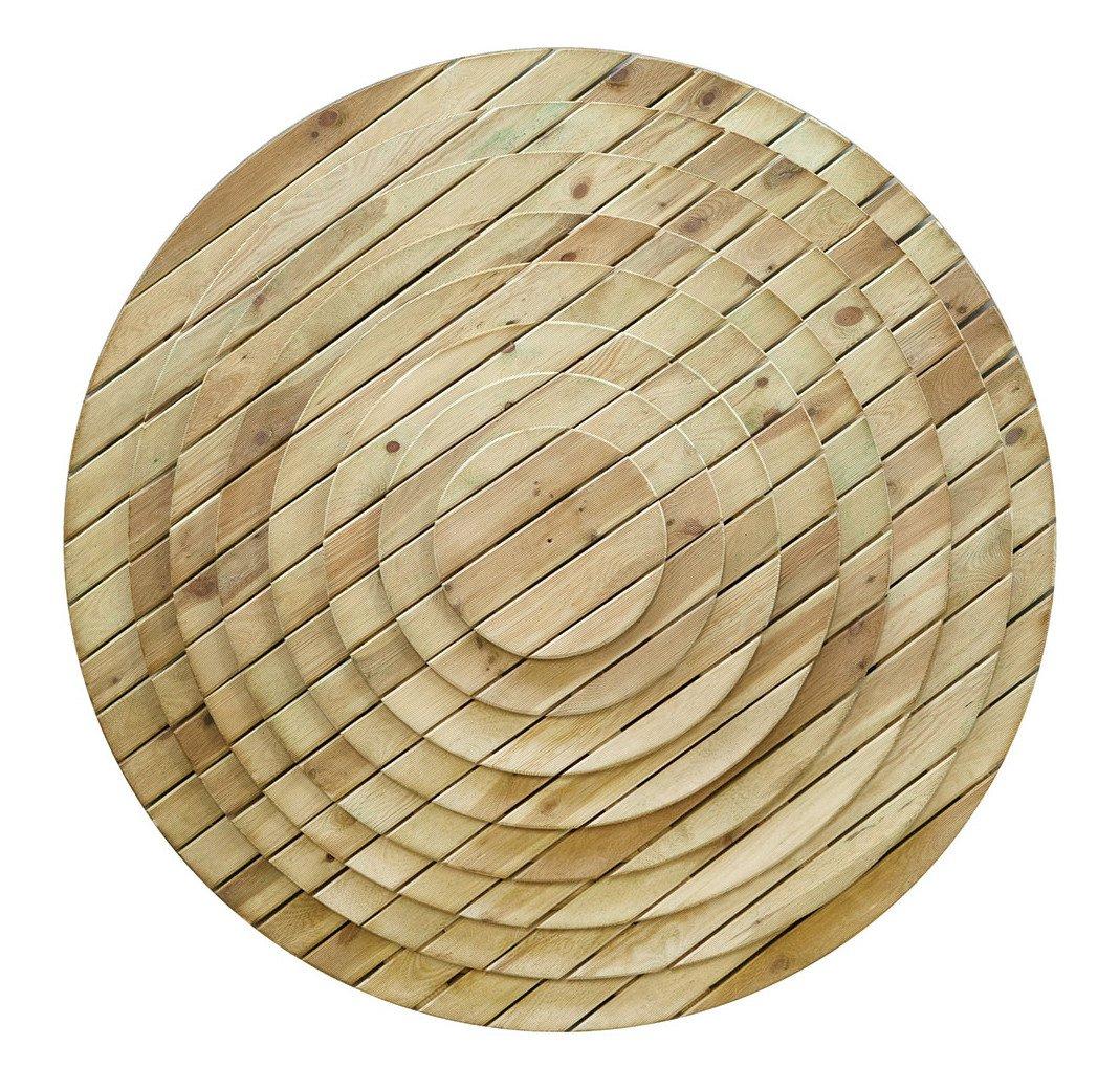 Ronde Houten grenen vlonders. Type: diverse diameters 40 - 80 cm