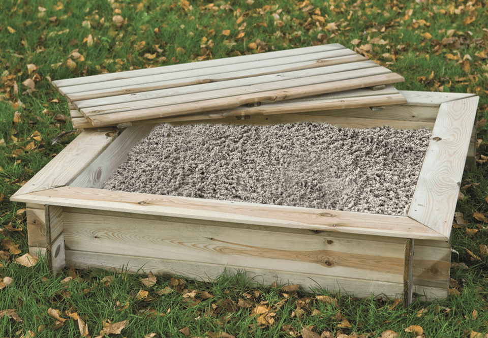 Houten zandbak vierkant Grenen 100 x 100 x 24 cm. Type: Buitenspelen