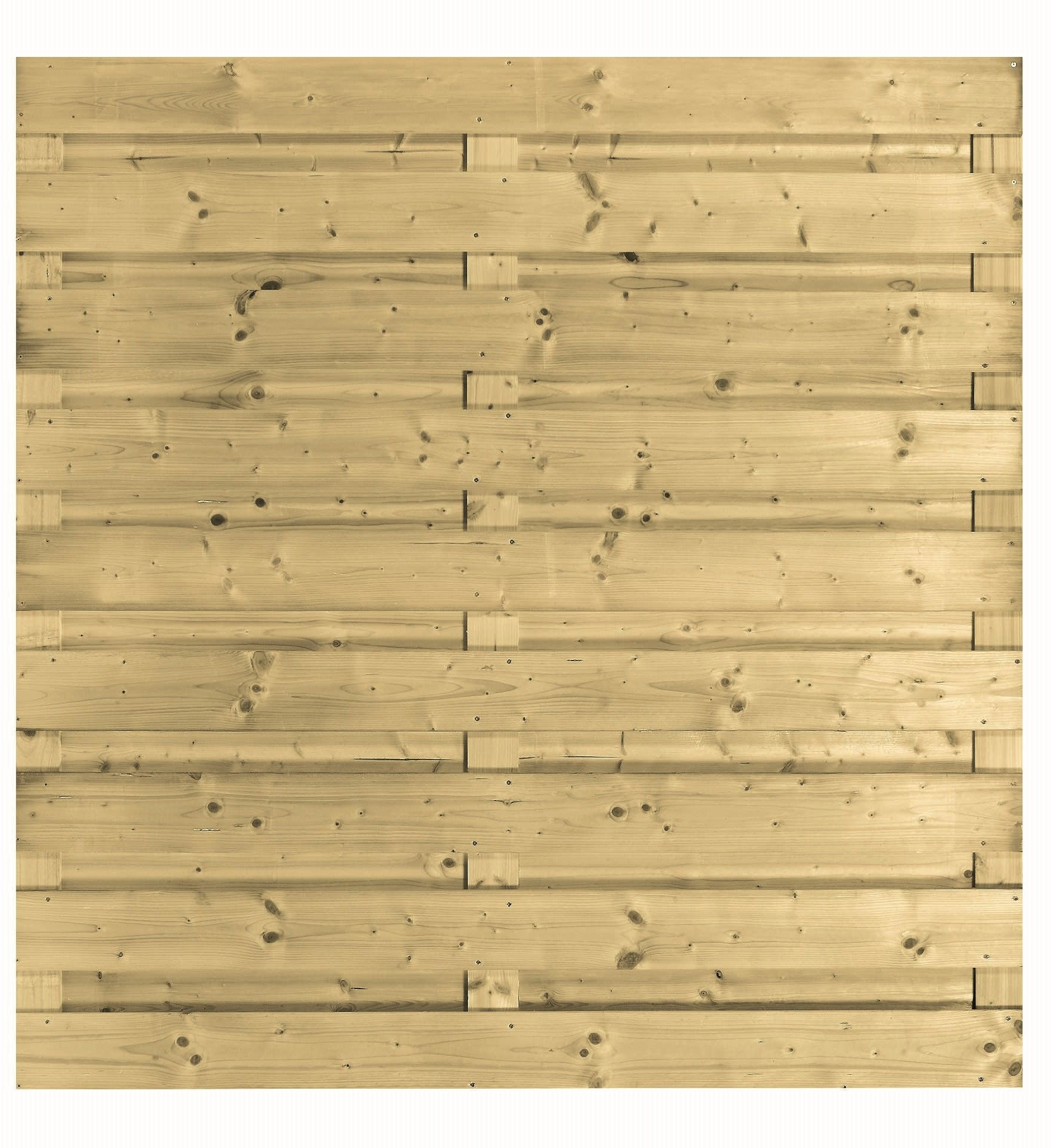 Houten schutting geïmpregneerd 180 x 180 cm. Type: Carpgarant Horizontaal