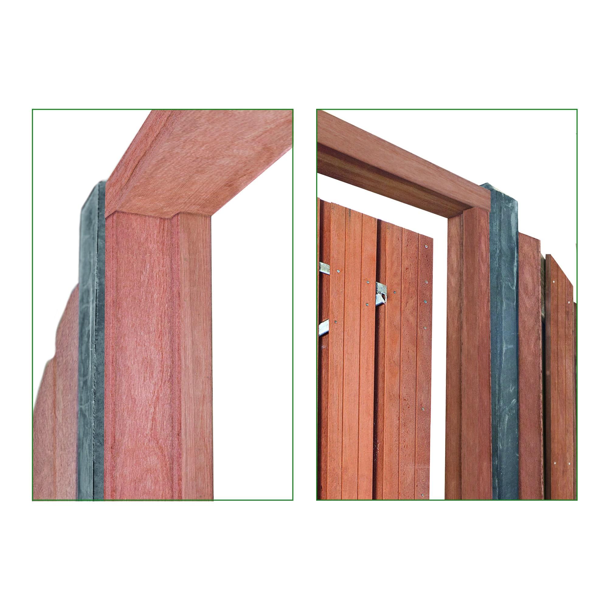 Houten deurkozijn + aanslagligger Type: Hardhout
