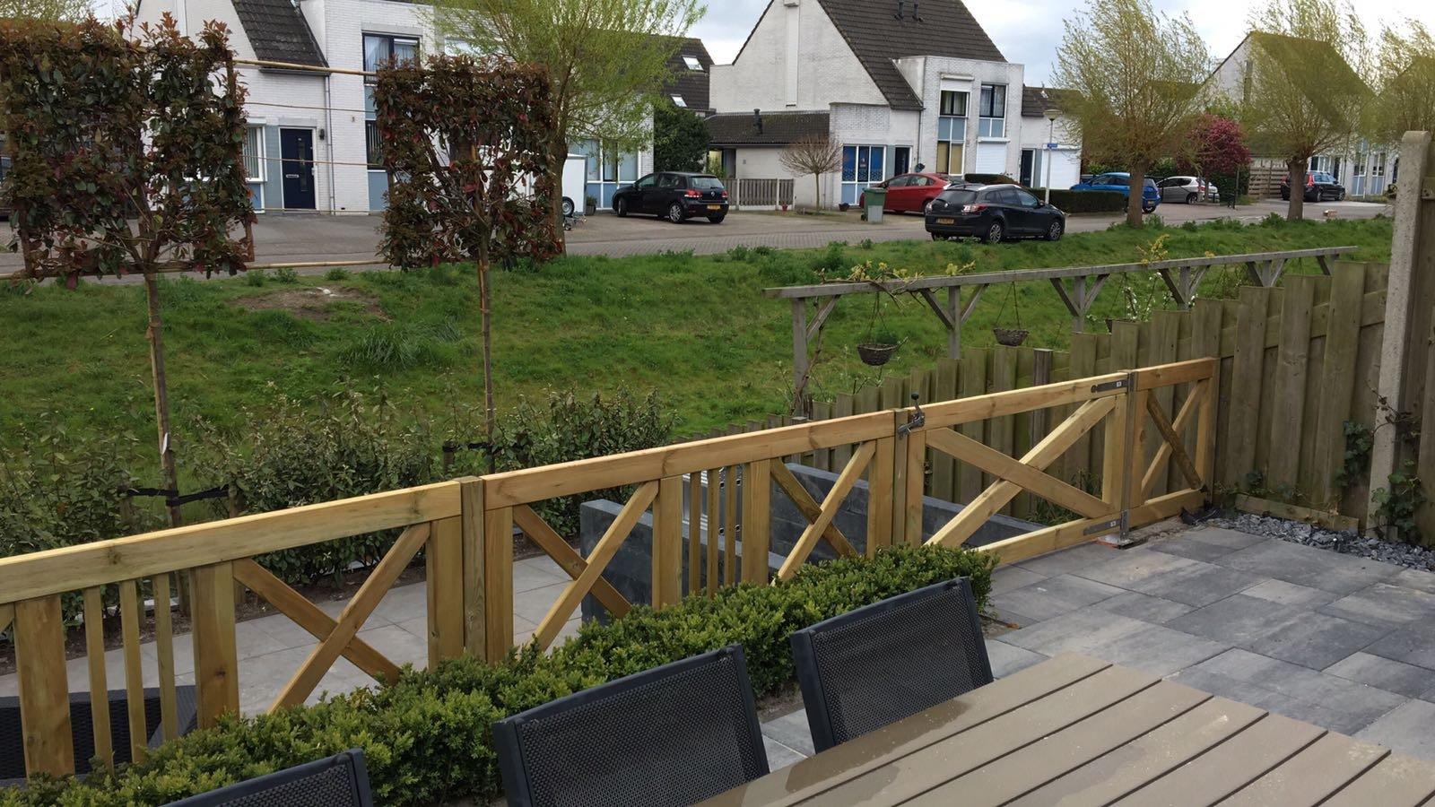 Houten Hekwerk Tuin : Houten hek grenen cm type boerenlandhek