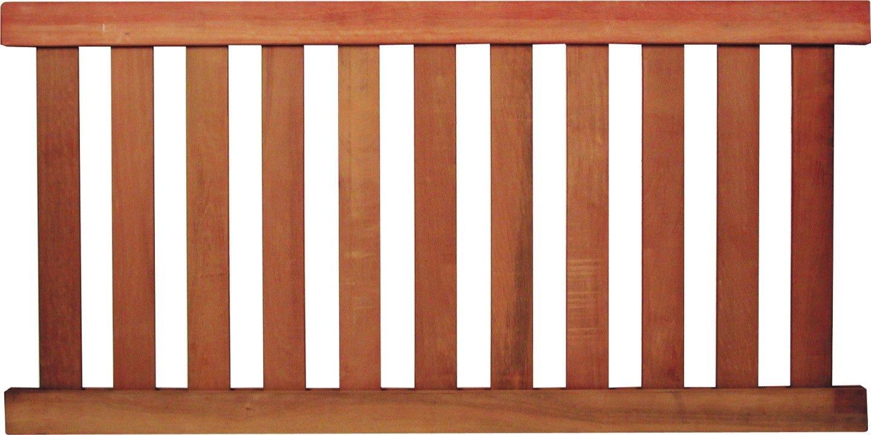 Hardhouten hek recht 90 x 180 cm. Type: Hek 21