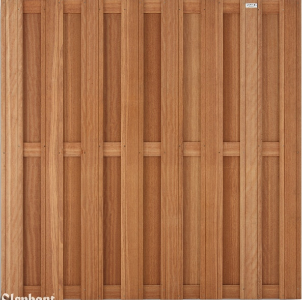 Hardhouten schutting Keruing recht 180 x 180 cm. Type: Timber