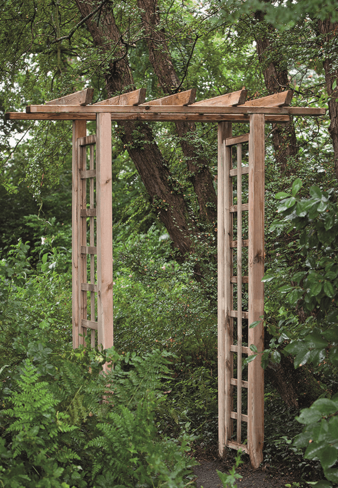 Houten pergolaset grenen recht 100 x 54 x 210 cm