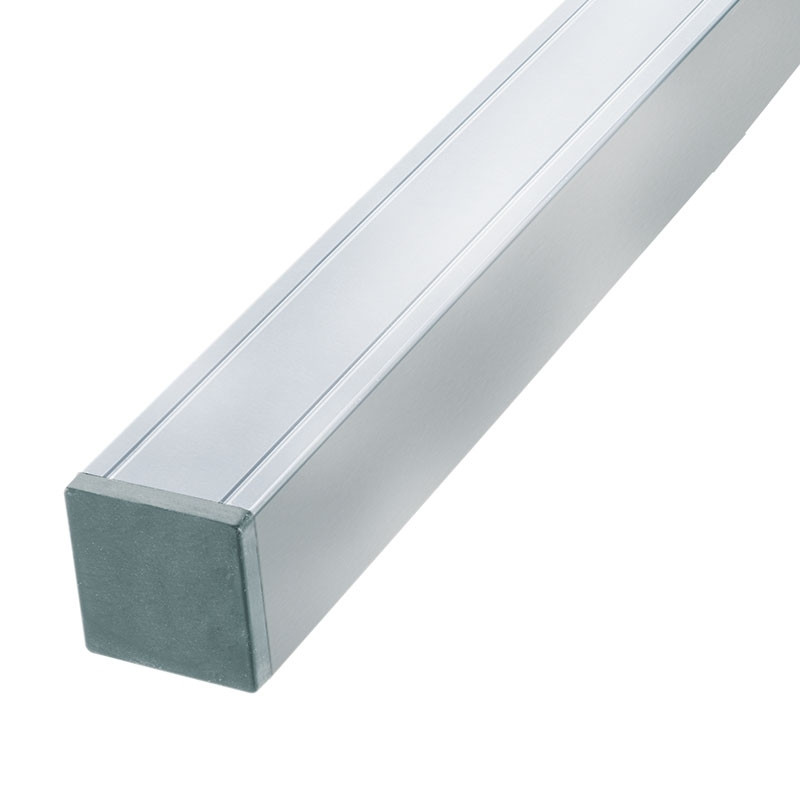 Aluminium deurpaal 68 x 68 x 2720 mm. Type: Geanodiseerd verstevigd