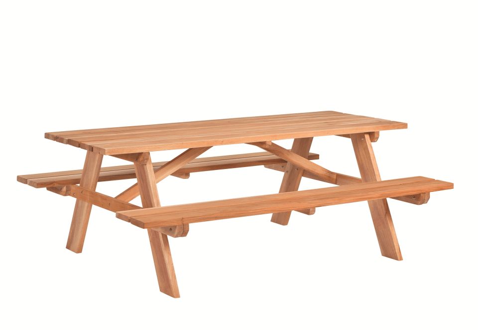 Hardhouten Picknicktafel 200 x 160 x 75 cm. Type: Business